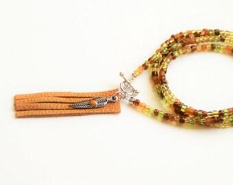Desert Sands Feather Wrap Bracelet
