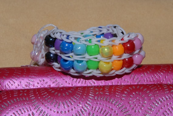 Rainbow Loom Double Bead Ladder Bracelet.