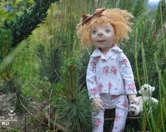 Marysia- 45cm- (AM15'07) - handmade doll- textile doll- fabric doll- rag doll- home decoration- handmade toy