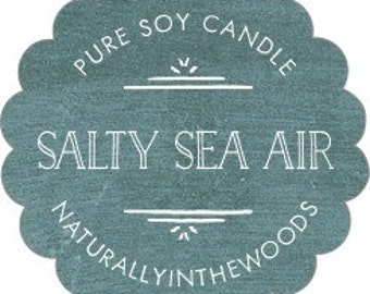 Salty Sea Air Pure Soy Candle