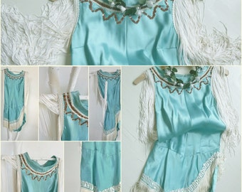 Wonderful dance costume, circus costume, 1940, one piece with a long zipper...CHARMANT!