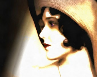 1920s Silent Film Star - Vintage Art with a Digital Touch