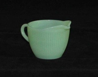 Jadeite Fire King Jane Ray Creamer