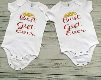 Best Gift Ever Unisex Christmas Bodysuit - 25 Days of Christmas Outfit - Christmas Photo Prop - Baby Shower Gift  - Gift Ideas under 15