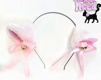 White Bell Kitten Ears