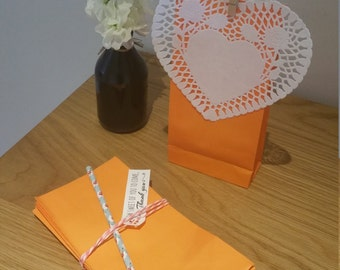Paper Favour Bags or Candy Bags Pk20 - Orange