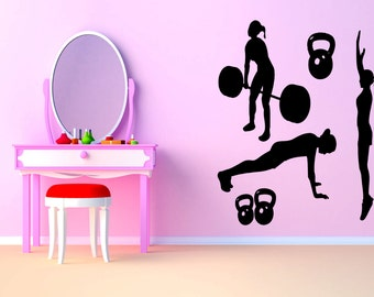 Removable Vinyl Sticker Mural Decal Wall Decor Poster Art Crossfit Bodybuilding Fitness Center Sport Gym Lift Fit Workout Phrase Quote SA922