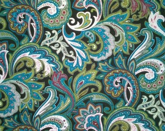 Oriental Flower Pattern Cotton Fabric - 20 inches long X 59 inches wide