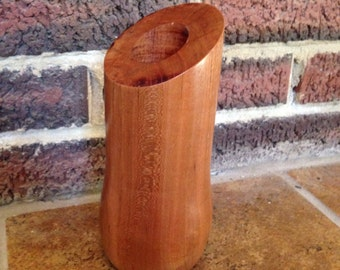 Wood turned vase