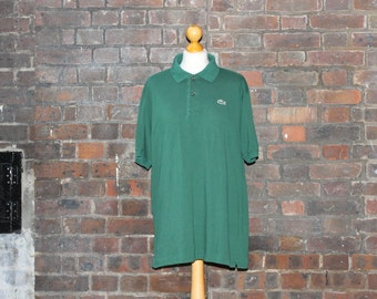 Vintage Green Lacoste Polo Shirt | Button Up Shirt