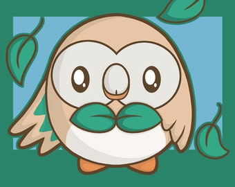 "Shop ""rowlet"" in Drawing & Illustration"