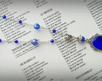 Blue Cat's eye crystal necklace