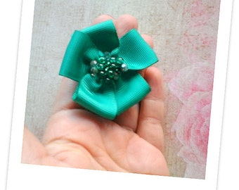 Ribbon Hair Clip For Baby Girl. Bow Hair Clip For Girls