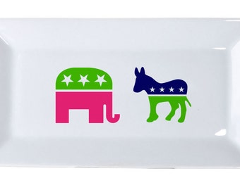 Ceramic Serving Tray - Election Design