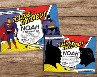 Batman vs Superman Party, Batman vs Superman Birthday, Batman vs Superman, Batman Party, Superman Party, Superhero Party, 384394940