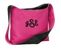Personalized Sling Tote, Monogrammed Tote, Canvas Sling Tote , Custom Shoulder Bag, Tote Bag for Her, Baby Diaper Bag, Tablet Tote. BG405