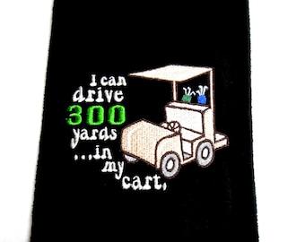Golf towels, funny golf towel, golf gift, embroidered towel, gift for him, golf gift for her, golfer gift, personalized golf, custom golf