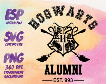 Hogwarts alumni  Clipart , SVG Cutting , ESP Vectors files , T shirt , iron on , sticker ,Personal Use