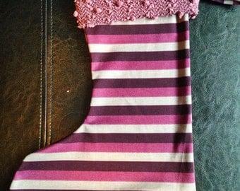 Rockin' Stockings - Purple Stripe
