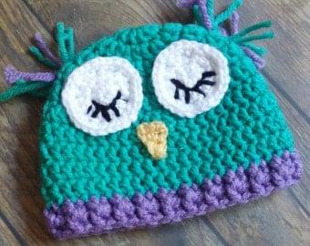 Baby owl hat, newborn owl hat, owl photo prop, crochet owl hat, crochet owl, crochet baby owl, crochet baby owl hat, baby owl