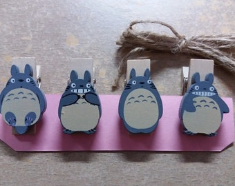 Totoro Wooden Clips