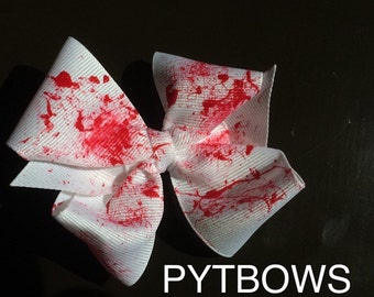 Blood spatter Halloween bow tie boutique bow