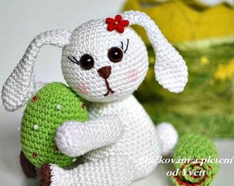 PATTERN - Easter Bunny - crochet pattern, amigurumi pattern, bunny pattern, Easter decoration, PDF