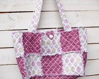 Pink & Gold Quilted Rag Purse - Gifts for Her - Gifts under 25
