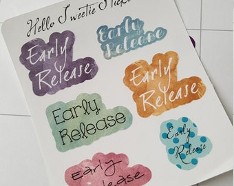 Early Release Stickers