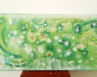 Floral Acrylic painting Floral Art flowers Wall Art , 60X30 cm Original
