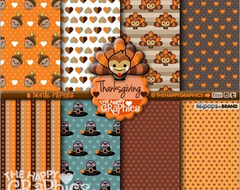 80%OFF - Thanksgiving Digital Paper, COMMERCIAL USE, Thanksgiving Printable, Thanksgiving Party, Thanksgiving Celebration, Pattern