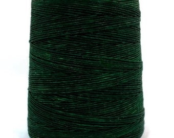 10 meters ≈ 11 yards - 1mm Dark Green Waxed Cord - Cotton Waxed Cord