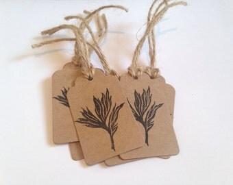 Peony Leaf Gift Tags