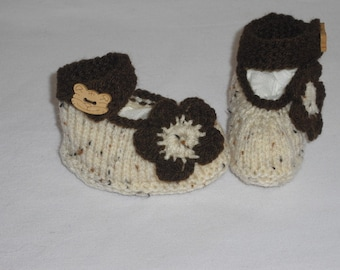 Baby shoes - ballerinas - first shoes - baptism - handmade - push - baby shoes