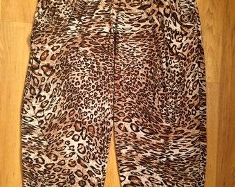 Cheetah Capri Harem Pants