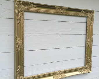 Gold Wall Frame, Baroque Wedding Photo Prop, Gallery Wall Frame, Open Frame, Gold Wedding Decor, Ornate Wall Frame, Custom Frame