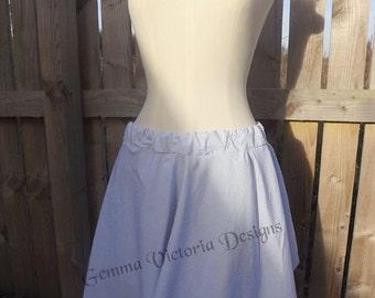 Handmade nautical pinstripe skirt