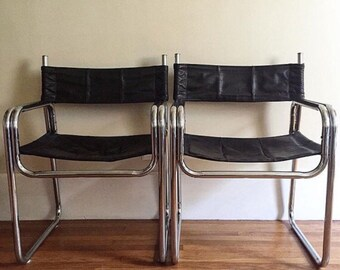 Chrome chair Etsy