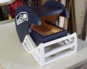 Football, helmet birdfeeder