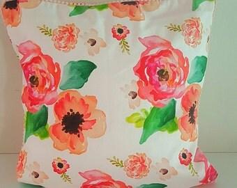 Cushion Cover - Watercolour Floral