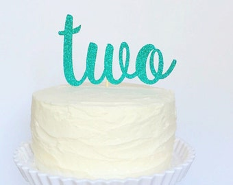 Two Birthday Cake Topper, Second Birthday