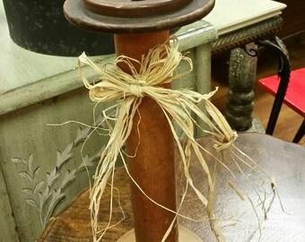 Wooden Textile Spool vintage Industrial Home Decor