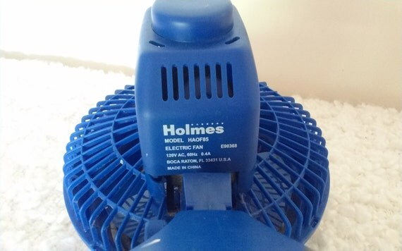 Vintage Holmes 2 Speed Oscillating Table Top Fan, Morpho Blue /Holmes  Blizzard 12u0027u0027 Oscillating Power Table Fan / Antique Fan/Table Fan