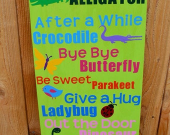 See You Later Alligator, After A While Crocodile, Kids Room Decor, Play Room Decor