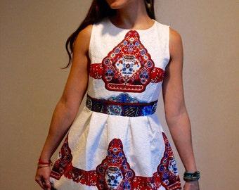 Short printed dress, Party dress, Bold dress, Elegant dress, Skater dress, Casual dress, Unique dress, Dress to impress,