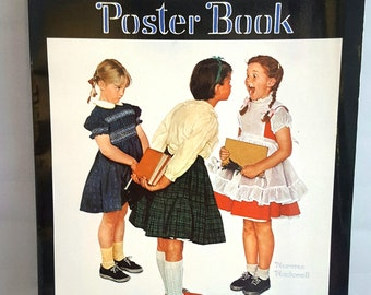 """The Second Norman Rockwell Poster Book, 20 Full Color 11"""" x 15"""" Posters, Suitable for Framing, 1981 5th Printing, U.S.A."""