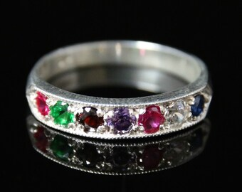 Regards Ring Ruby Emerald Garnet Amethyst Ruby Diamond Sapphire