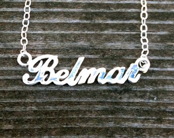 Belmar - New Jersey Shore Town Sterling Silver Necklace & Starfish Earrings