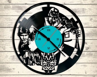 Vinyl Clock/ STARWARS/ An interesting element of the decor/ For music and art lovers