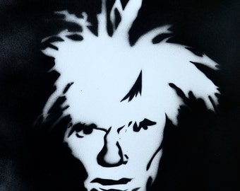 Andy Warhol Spray Paint Portrait